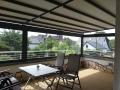 Terrasse wind- und regengeschützt